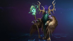 Malfurion with a staff